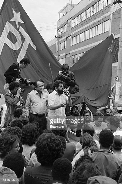 1982Sao Paulo BrazilLuis Inacio da Silva who is known throughout Brazil by his childhood nickname 'Lula' addresses a recent rally He is founder of...