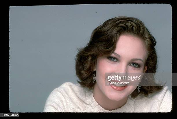 Actress Diane Lane is shown in this head and shoulders studio portrait.