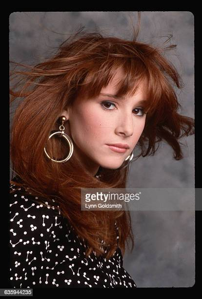 1987Pop singing sensation Tiffany is shown in a studio closeup Head and shoulders photograph