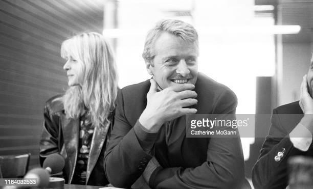Actors Rutger Hauer and Nastassja Kinski pose for a portrait at a press conference with filmmaker Lina Wertmuller for her film Crystal or Ash Fire or...