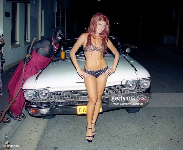 Australian model Annalise Braakensiek celebrates her birthday in the 1990s in Sydney Australia