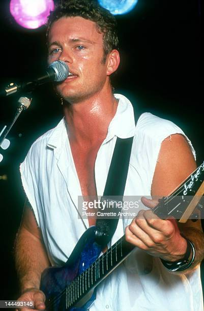 Australian singer and actor Craig McLachlan perfoming live on stage during a concert in the 1990s in Australia