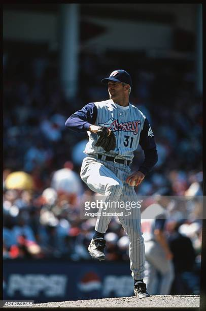 Chuck Finley of the Anaheim Angels pitches the baseball. Chuck Finley played for the Anaheim Angels from 1986-1999.