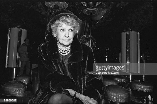 Elaine Stritch poses for a portrait at the Tunnel night club in the mid 1990s in New York City New York