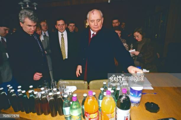 former General Secretary of the Communist Party of the Soviet Union Mikhail Gorbachev Russia 1990s