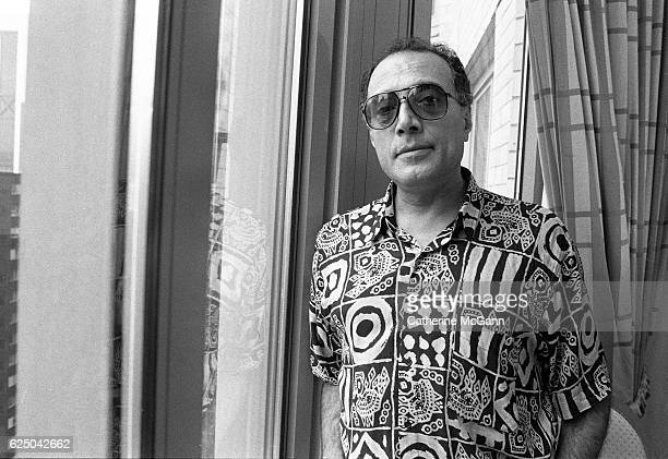 Iranian film director Abbas Kiarostami poses for a portrait in the 1990s in New York City New York