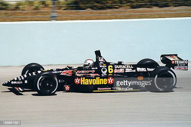 Michael Andretti at speed at HomesteadMiami Speedway driving the NewmanHaas KMart/TexacoHavoline CART Indy Car Andretti enjoyed quite a bit of...