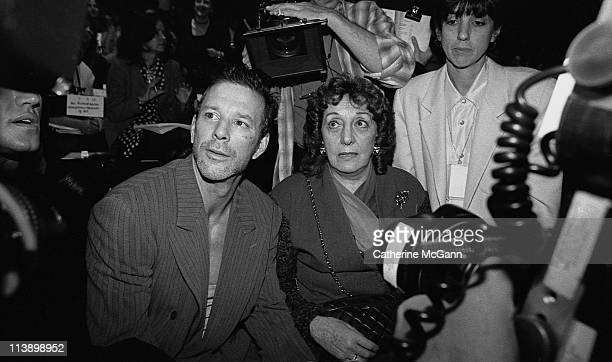 Mickey Rourke at an Oscar De La Renta Fashion Show in the mid 1990s in New York City New York