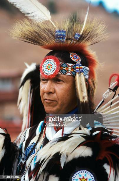 1990s Portrait Male Native American Indian Dancer At Inter-Tribal Ceremonial Dance Gallup New Mexico USA