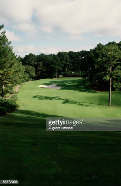 1990s : The 6th hole during a 1990s Masters Tournament at Augusta National Golf Club in Augusta, Georgia.