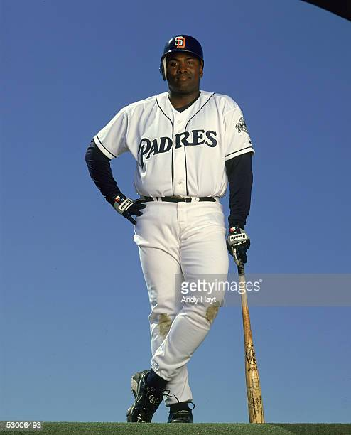 Tony Gwynn of the San Diego Padres poses for a circa 1990s publicity photo Gwynn spent his entire career with the Padres from 19822001