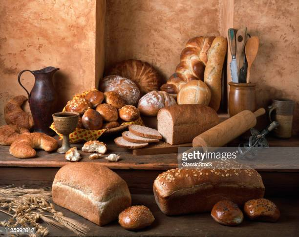 1990s VARIOUS WHOLE GRAIN BREAD LOAVES AND BUNS