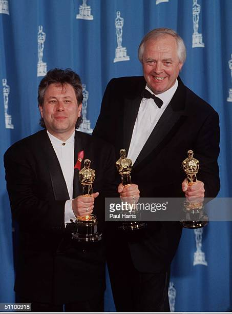 Los Angeles Alan Menken And Tim Rice At The 1993 Oscar Awards Show