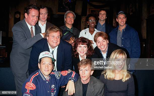 1993New York NYPhoto shows the cast of Saturday Night Live posed Amongst those in the group are Phil Hartman Lorne Michaels Ellen Kleghorne Kevin...