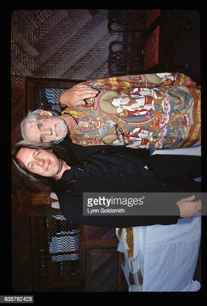 1995Rock musician Todd Rundgren and psychologist Timothy Leary as they appear at a function