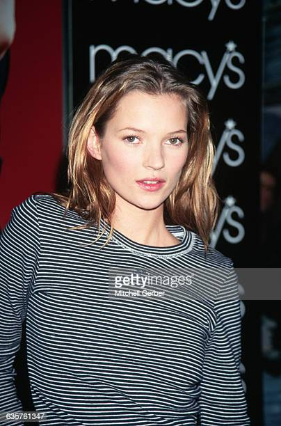 1996New York New York Picture shows model Kate Moss at Macy's She is appearing in a Calvin Klein fashion show at the store She is shown wearing a...