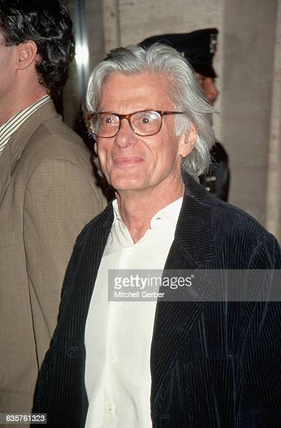 1996New York New York Picture shows world renowned photographer Richard Avedon at the premiere of the movie 'The People Vs Larry Flint' dressed in a...