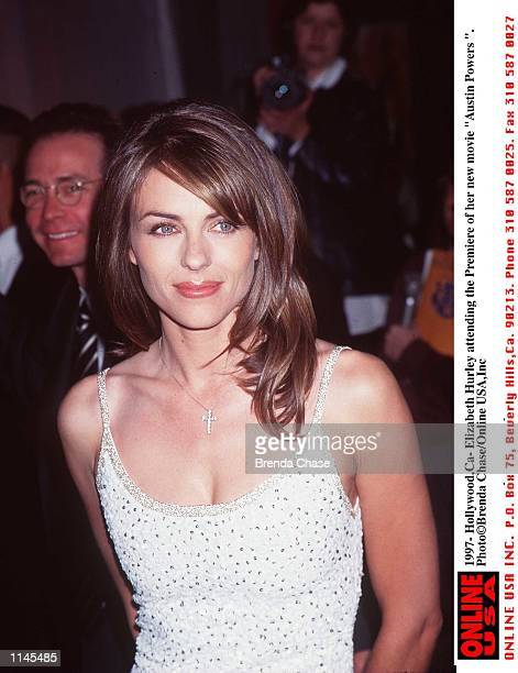 Hollywoodca Elizabeth Hurely Attending the Premeire of her new film Austin Powers