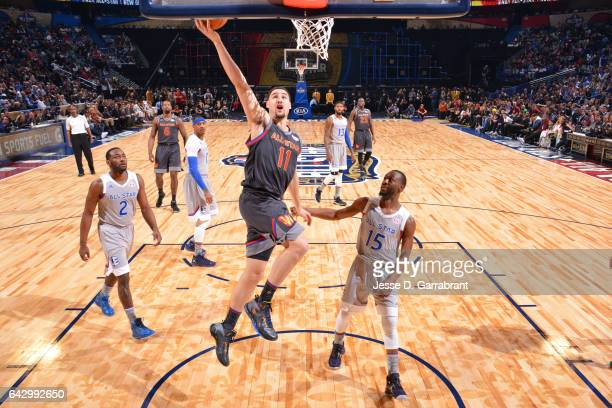 Klay Thompson of the West shoots against the East during the NBA AllStar Game as part of the 2017 NBA All Star Weekend on February 19 2017 at the...