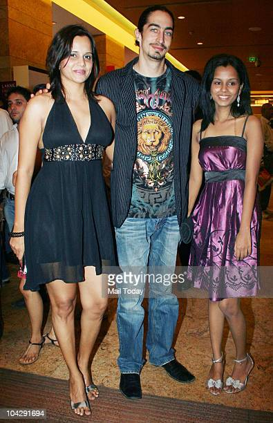 Nisha Harale and Adam Bedi at day three of the Lakme Fashion Week in Mumbai on September 19 2010