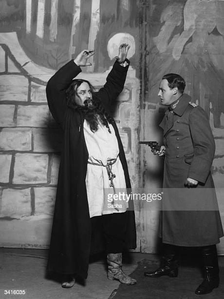 British actors Jack Hobbs and Robert Atkins in 'Rasputin' at the Strand Theatre in London
