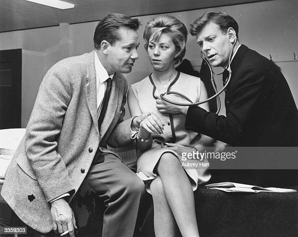 Stars of the television show 'Emergency Ward 10' Charles Tingwell Jill Browne Desmond Carrington