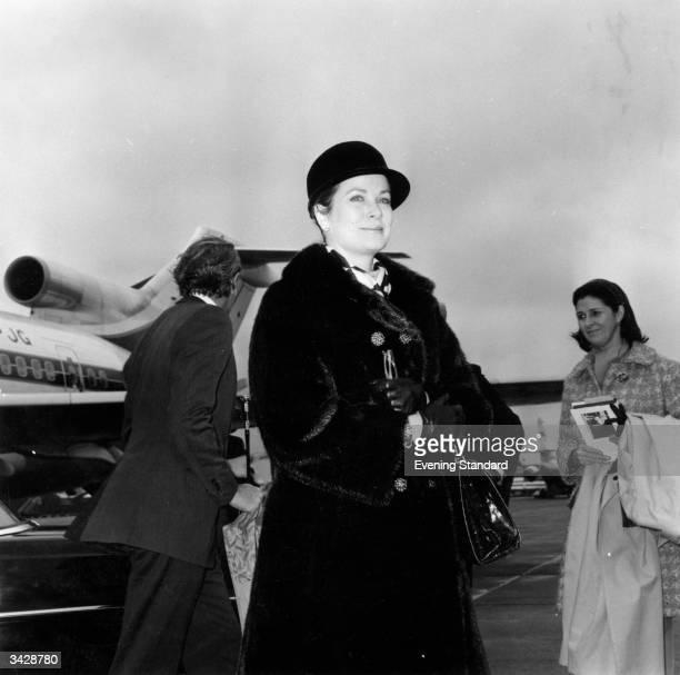 Former film star Princess Grace of Monaco at London Airport
