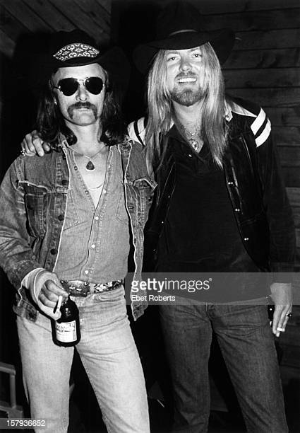 NEW YORK 19th APRIL Dickey Betts and Gregg Allman from the Allman Brothers posed on Robert Klein's Radio show at DIR in New York City on 19th April...