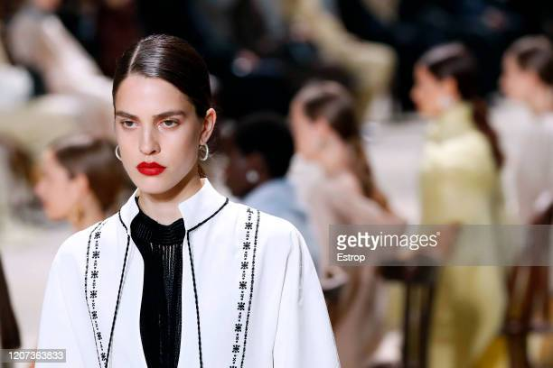 19th: Atmosphere during the Jil Sander fashion show as part of Milan Fashion Week Fall/Winter 2020-2021 on February 19, 2020 in Milan, Italy.