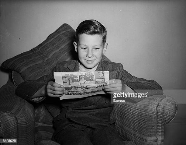 Twelve year old Lester Piggott after winning the Wigan Lane selling handicap Piggott went on to become one of the world's most successful jockeys