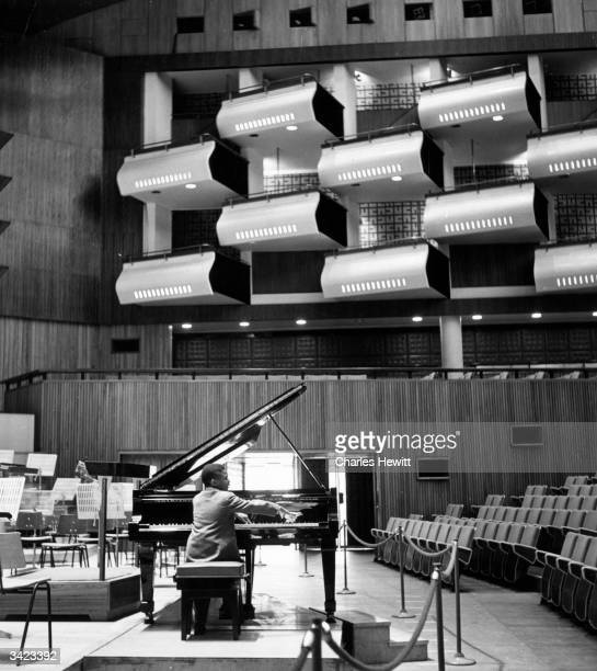 12 year old musician 'Sugar Chile' Robinson rehearsing at the Royal Festival Hall London Original Publication Picture Post 5380 The Other Sugar pub...