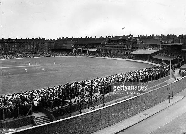 The Oval cricket ground in south London during the final Test Match between England and Australia