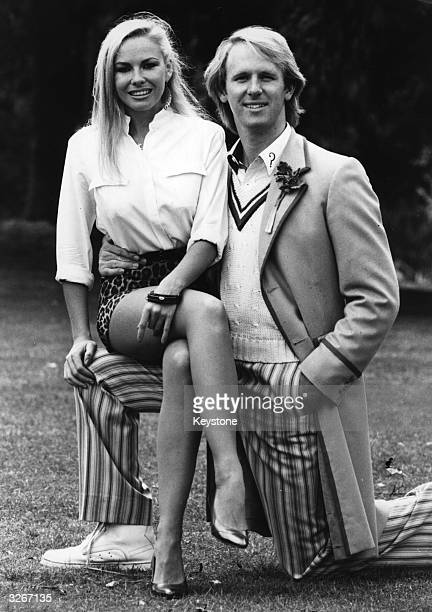 Pamela Stephenson and Peter Davison who plays Doctor Who at the BBC Television Centre