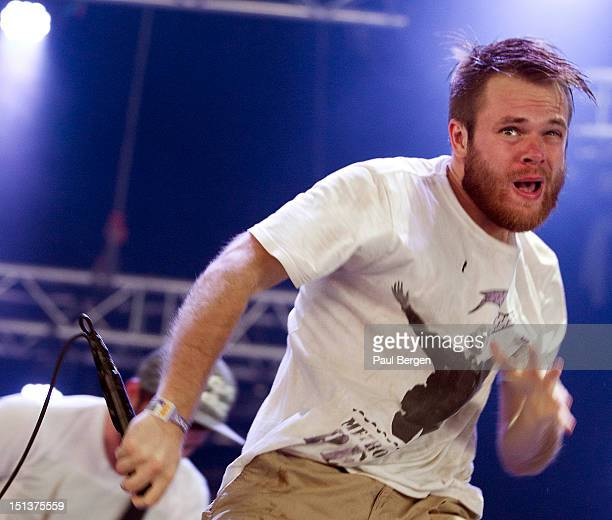19th AUGUST: Rou Reynolds from British band Enter Shikari performs live on stage at Lowlands festival in Biddinghuizen, Netherlands on 19th August...