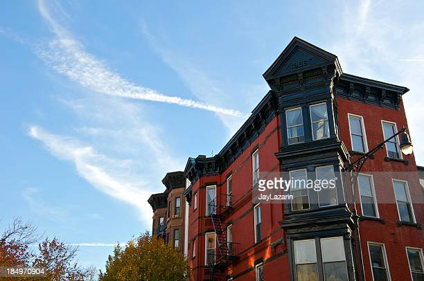 19th Century apartment row houses, Park Slope, Brooklyn, NYC