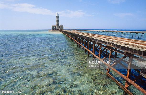 19th century British lighthouse on Daedalus Reef (Abu el-Kizan), Red Sea, Egypt