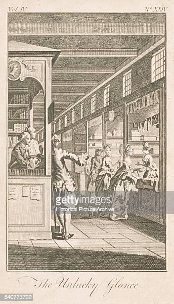 19th Century British Magazine Illustration Entitled The Unlucky Glance
