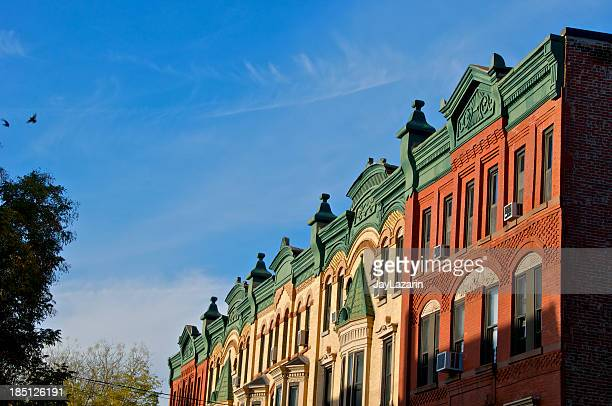 19th Century Brownstone row houses, Park Slope, Brooklyn, NYC
