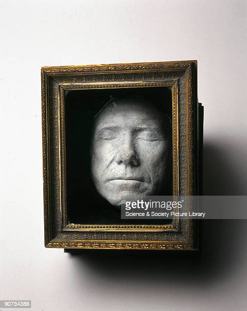 19th century copy of a life mask of John Hunter aged 60 The original mask was made by Sir Joshua Reynolds The plaster copy is seen here in wooden...
