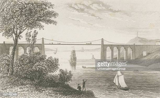 19th century depiction of the Menai bridge Menai Bridge is a small town and community on the Isle of Anglesey in north Wales It overlooks the Menai...