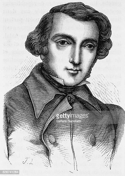 19th Century Engraving of Alexis de Tocqueville