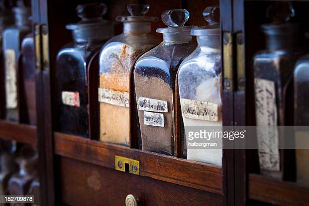 19th century medicines - potion stock photos and pictures
