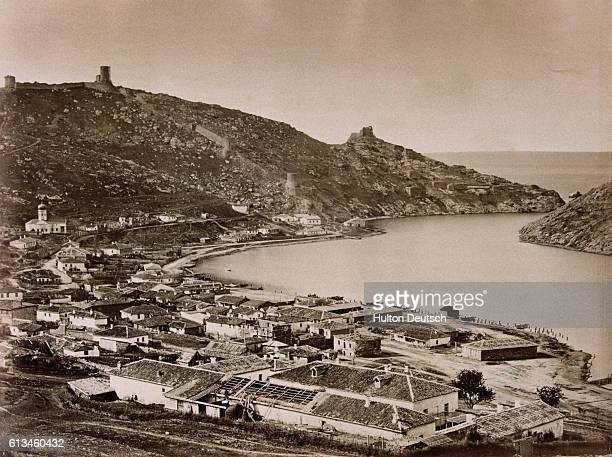 19th century photo of the Ukrainian town of Balaklava on the Crimean Peninsula. A Crimean War battle was fought there on October 25 the inspiration...
