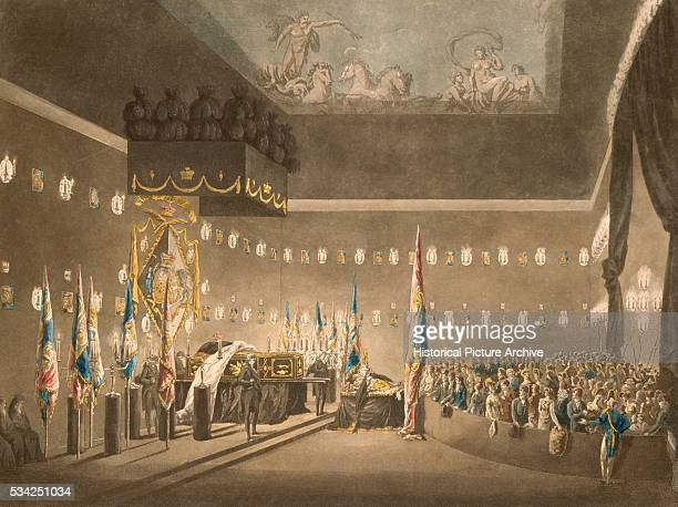 19th Century Print of Lord Nelson Lying in State