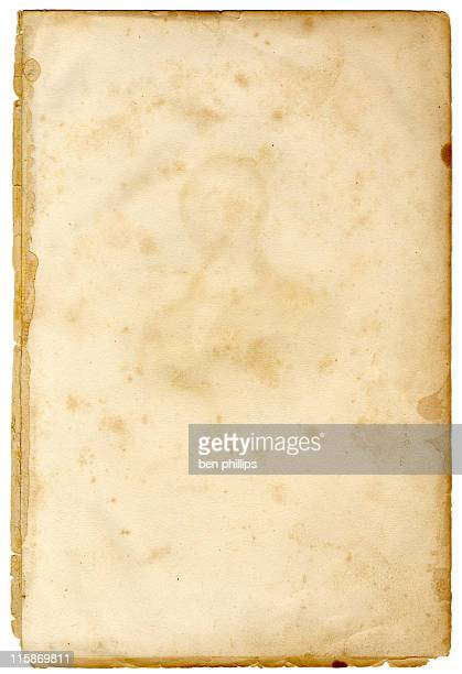 19th century stained page - parchment stock pictures, royalty-free photos & images