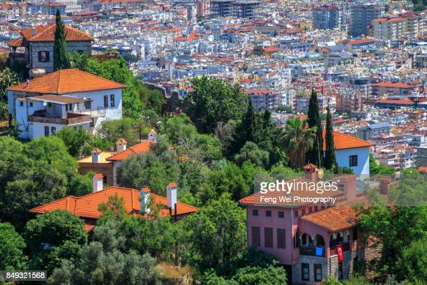 19th century villas by Alanya Castle, Alanya, Antalya, Turkey