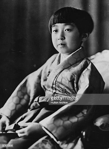 Official photograph of Her Imperial Highness Princess Teru, eldest daughter of the Emperor and Empress of Japan on her ninth birthday.