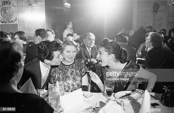 Entertainer Lionel Blair with his actress sister Joyce Blair who is currently appearing in a production of 'Guys And Dolls', enjoying a drink at...