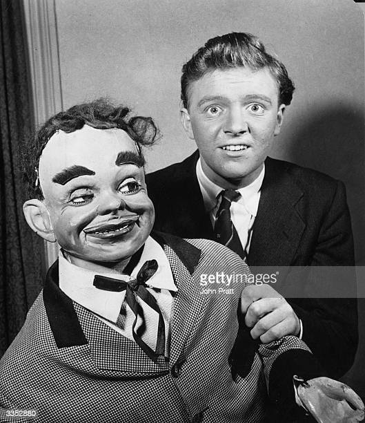 Young ventriloquist Dennis Spicer with his dummy 'James Green' The BBC has signed him up for three years