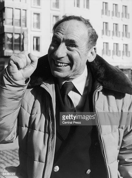 American director Mel Brooks in Paris for the premiere of his latest film 'History of the World Part I'